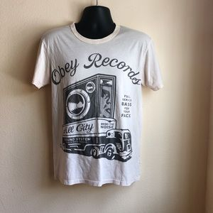 Obey Graphic Record Shirt